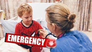 EMERGENCY HOSPITAL VISIT IN AN AMBULANCE