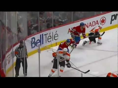 Travis Moen hits Erik Gustafsson. Dual Feed.Feb 16th 2013