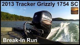 2013 tracker grizzly 1754 sc jon boat w mercury fourstroke 60 break in run