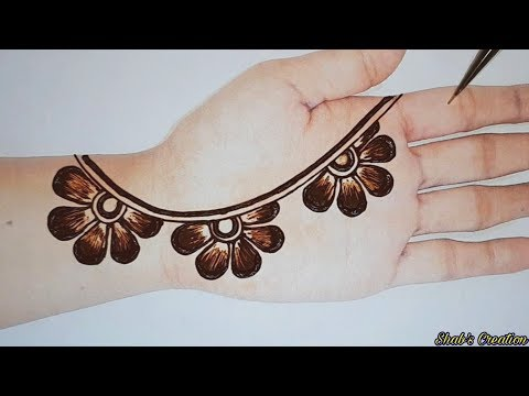 New Easy Full Hand Shaded Arabic Design | Simple Arabic Mehendi Designs | Mehandi Designs