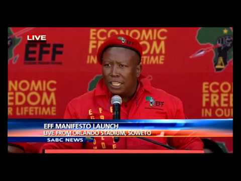 Malema delivers keynote address at the EFF's manifesto launch