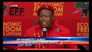 Malema delivers keynote address at the EFF