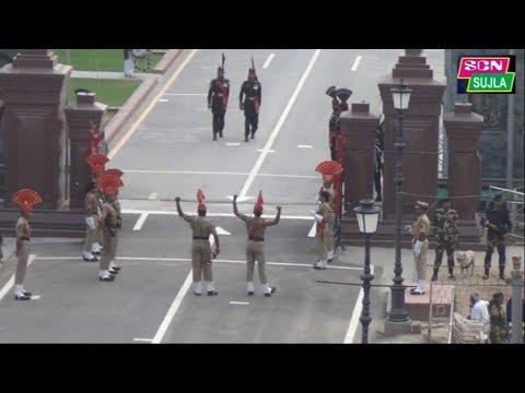 भरतीय सैनिको का बाघा बॉर्डर पर पाकिस्तानी सेना के छक्के छुड़ा देने वाला प्रदर्शन कॉमेंट्री  सहित