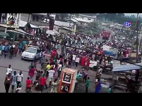 EQUINOXE TV - JT 12H00(Explosion à la SCDP à DOUALA - Manifestations dans les régions Anglophones)