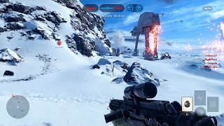 Star Wars: Battlefront Multiplayer Gameplay! (Walker Assault on Hoth - Playstation 4 Beta HD)