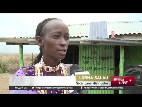4297 economics energy CCTV Afrique Maasai Women Installing Solar Panels in Remote Regions of Kenya