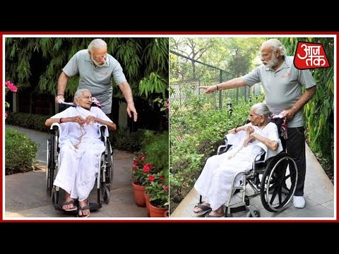Exclusive: PM Modi's Mother Visits Him At 7 RCR For The First Time