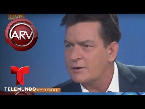 El actor Charlie Sheen admite públicamente que portador del virus VIH | Al Rojo Vivo | Telemundo