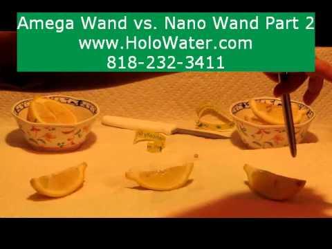 Zero Point Energy Wand Lemon Test P2 Amega AMwand Verses Nano Wand Ion Scalar