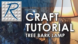 Diy Craft Tutorial - How To Make A Realistic Tree Bark Lamp Using Free Form Habitat
