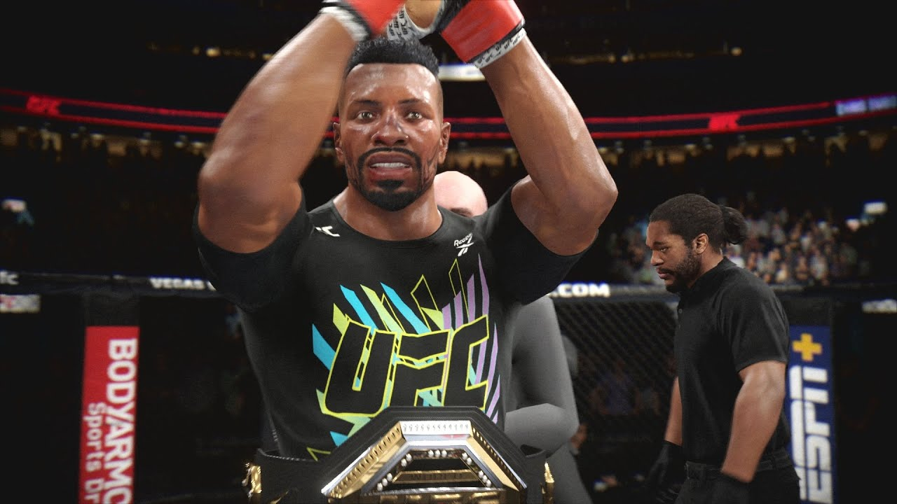 UFC 4 Career Mode EP 13 - No Sportsmanship Title Defense! EA Sports UFC 4 Gameplay PS4
