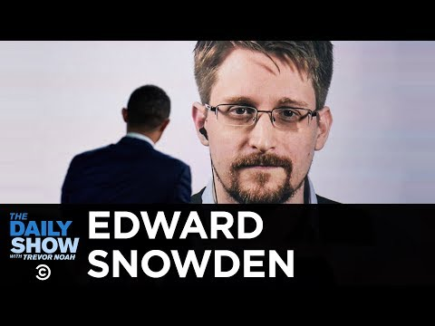 """Edward Snowden - """"Permanent Record"""" & Life as an Exiled NSA Whistleblower   The Daily Show"""