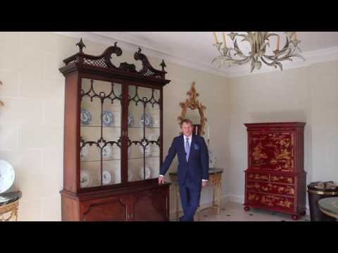 A Magnificent George II Mahogany Bookcase