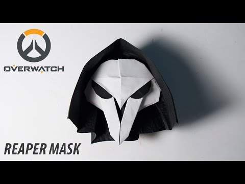 OVERWATCH - Origami Reaper's Mask Tutorial (for Halloween) (Henry Pham)