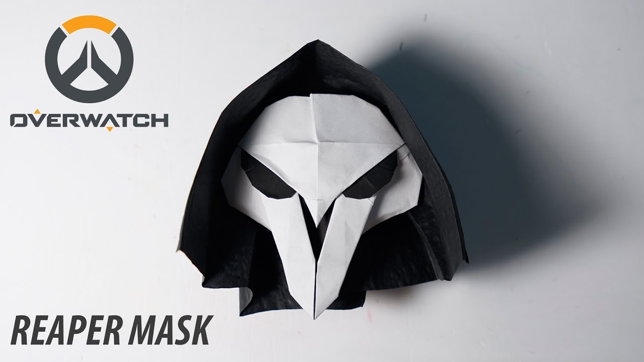 overwatch origami reapers mask tutorial for halloween