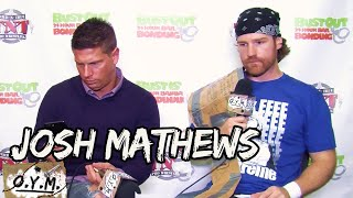 JOSH MATHEWS INSANE SHOOT INTERVIEW