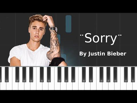 Justin Bieber - &39;&39;Sorry&39;&39; PIANO TUTORIAL