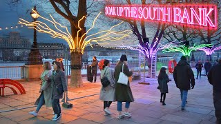 Lively London Christmas Walk ✨ South Bank to Bankside + Festive Gabriel's Wharf