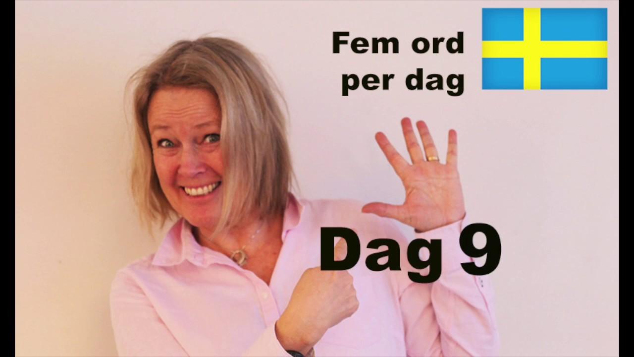 Dag 9 - Fem ord per dag - Hur gammal är du? Ålder - Lär dig Svenska A1 CEFR