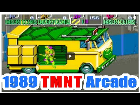 1989 Teenage Mutant Ninja Turtle TMNT Arcade Old School Game Playthrough retro game