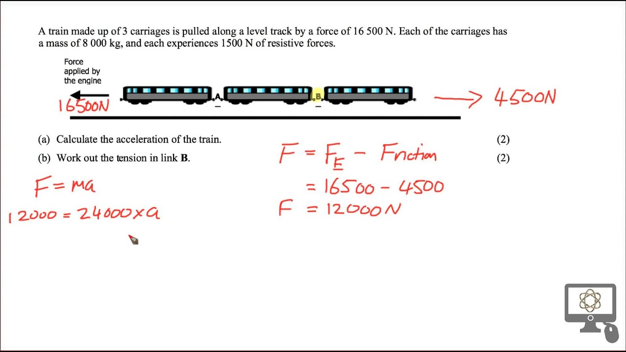 tension problem solution for sqa cfe higher physics train tension problem solution for sqa cfe higher physics train carriage
