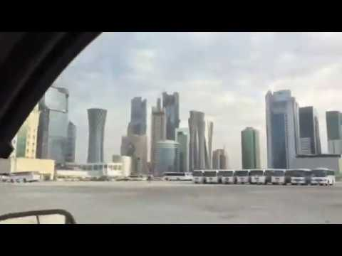 beautiful downtown  doha  qatar