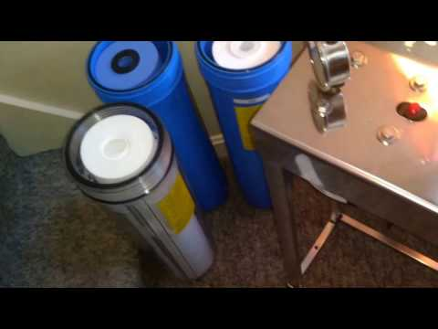 Installed The Whole House 3-stage Water Filter 4/20/2017
