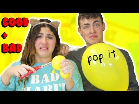 BALLOON SLIME CHALLENGE 7 GOOD 7 BAD INGREDIENTS | Insta POP IT | Slimeatory #165