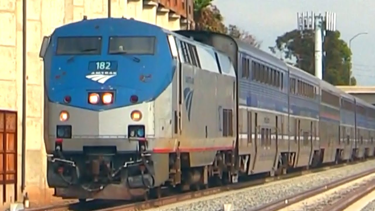 fast amtrak trains youtube