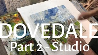 LEWIS NOBLE - DOVEDALE Part 2 Painting on canvas demonstration