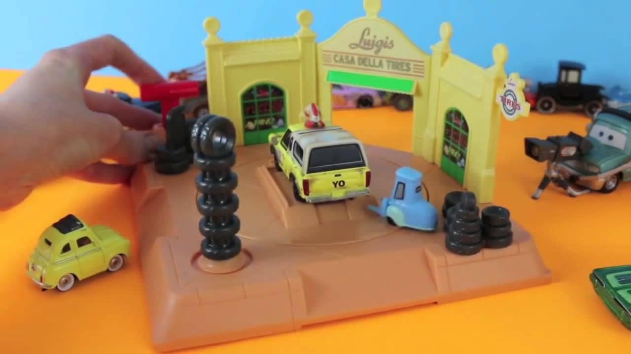 hot sales 70b5d 85b38 Cars Action Shifters Luigi's Tire Shop New 2014 Disney Pixar Cars Toys  Guido & Pizza Planet Truck