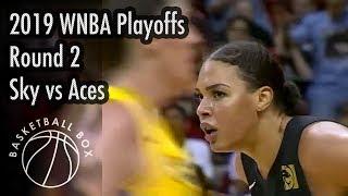 [WNBA Playoffs Round2] Chicago Sky vs Las Vegas Aces, Full Game Highlights, September 15, 2019