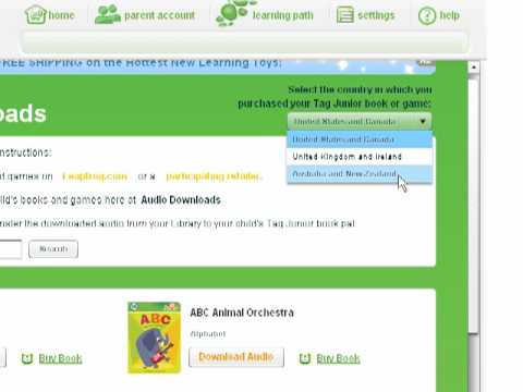 Downloading audio to the LeapFrog Tag Junior Book Pal