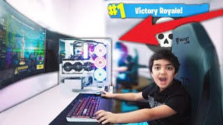 My Little Brother Plays Fortnite On PC For The Fir...