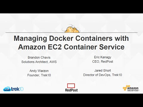 Managing Docker Containers with Amazon EC2 Container Service
