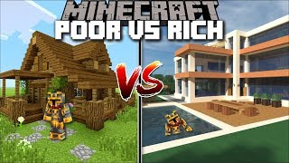 Minecraft POOR HOUSE VS RICH HOUSE / DIAMOND HOUSE OR DIRT HOUSE !! Minecraft