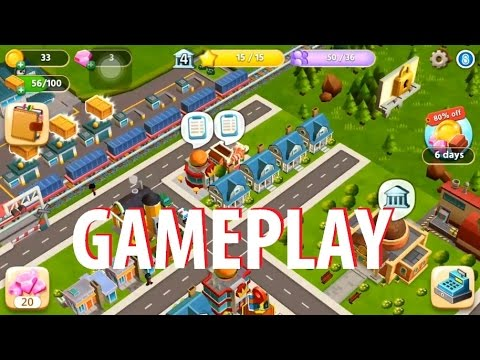 Dream City: Metropolis Gameplay (By Storm8 Studios) iOS / Android Video HD