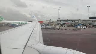 KLM B737700 taxi apron Schipol
