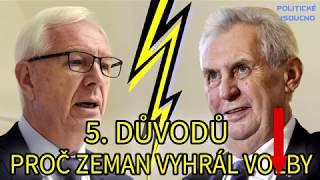 5 důvodů proč Zeman vyhrál volby