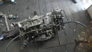 Заклинило двигатель Субару 2.0 дизель