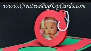 Cute Christmas Ornament Popup Card