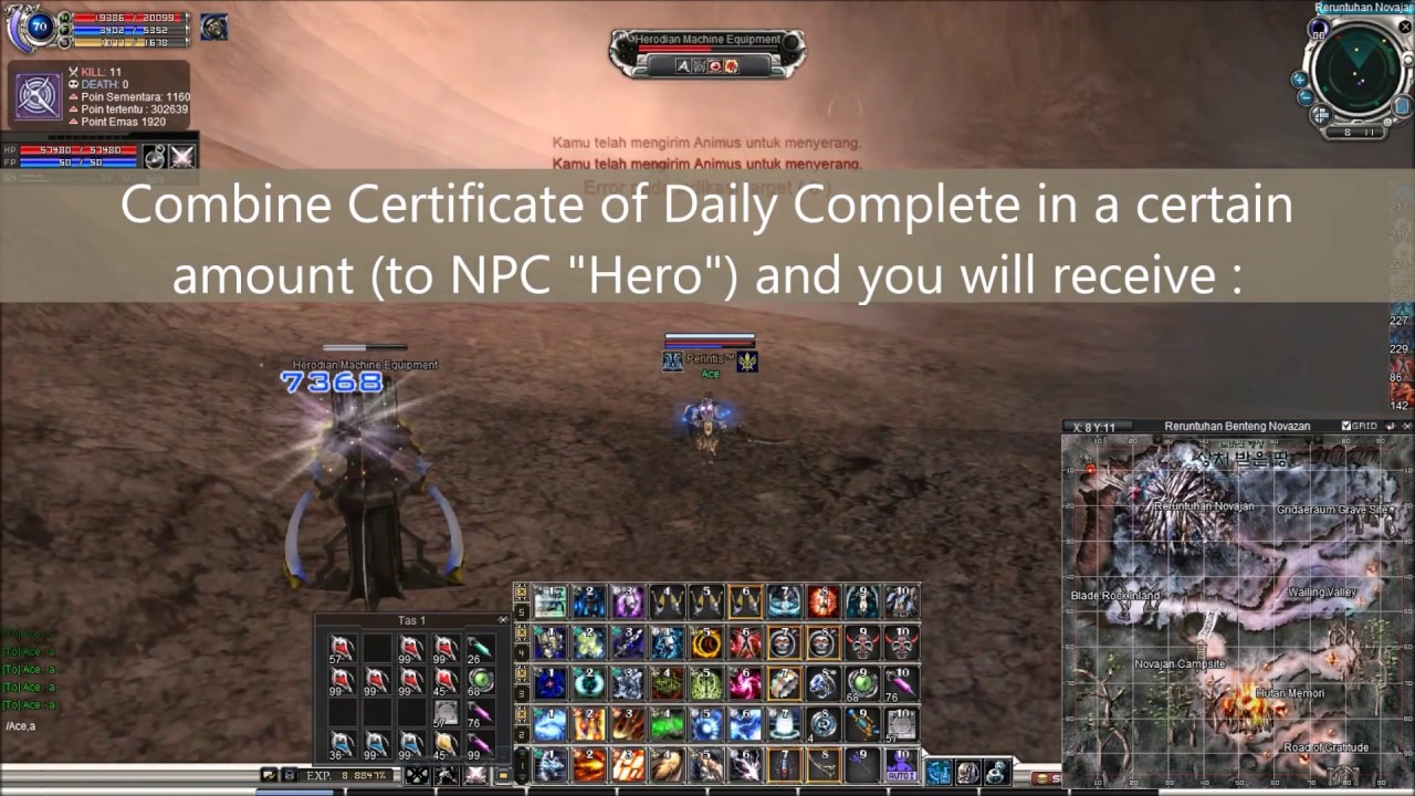 rf online indonesia   daily quest