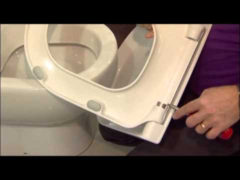 Jika Toilet Onderdelen : How to change the soft close cylinders on a pressalit toilet seat