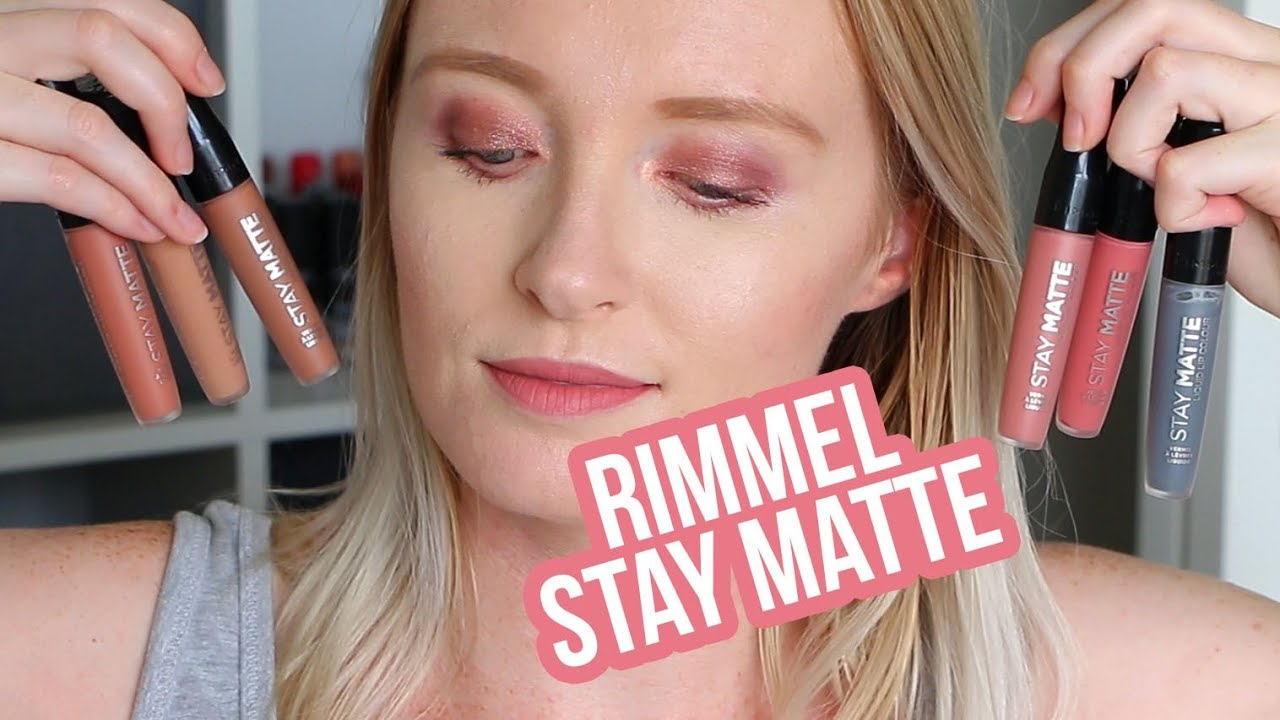 Rimmel London Stay Matte Liquid Lip Colour Lip Swatches Youtube