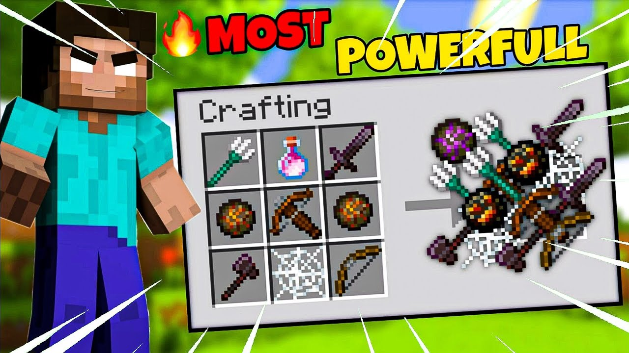 I Crafted Most Powerfull Weapon In Minecraft | Minecraft In Hindi