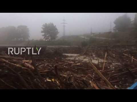 Russia: Powerful mudslide leaves almost 8,000 people stranded in Kabardino-Balkar Republic