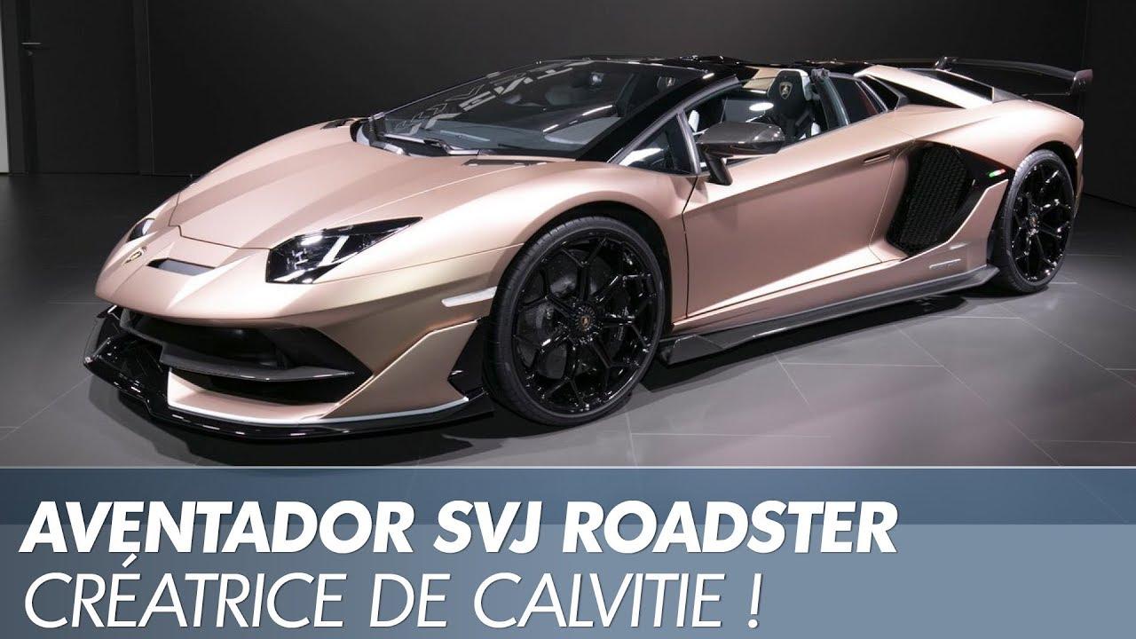 Lamborghini Aventador SVJ Roadster  décapsulage à Genève