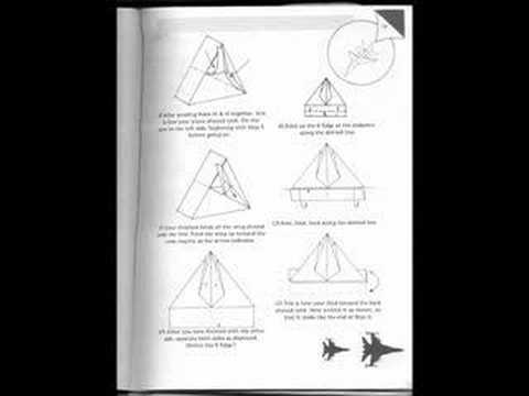 F 14 Paper Airplane Instructions Youtube