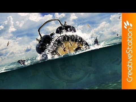 Lost in Ocean - Speed art (#Photoshop) | CreativeStation