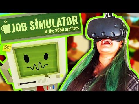 SAMMIE ER BLEVET KOK! | Job Simulator VR
